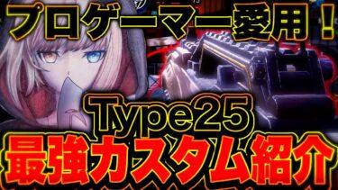 プロゲーマーも愛用!『Type25』最強カスタム紹介!!【CoDモバイル】【ろくたん】
